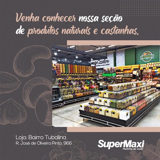 Venha conhecer nossa seção de produtos naturais e castanhas!