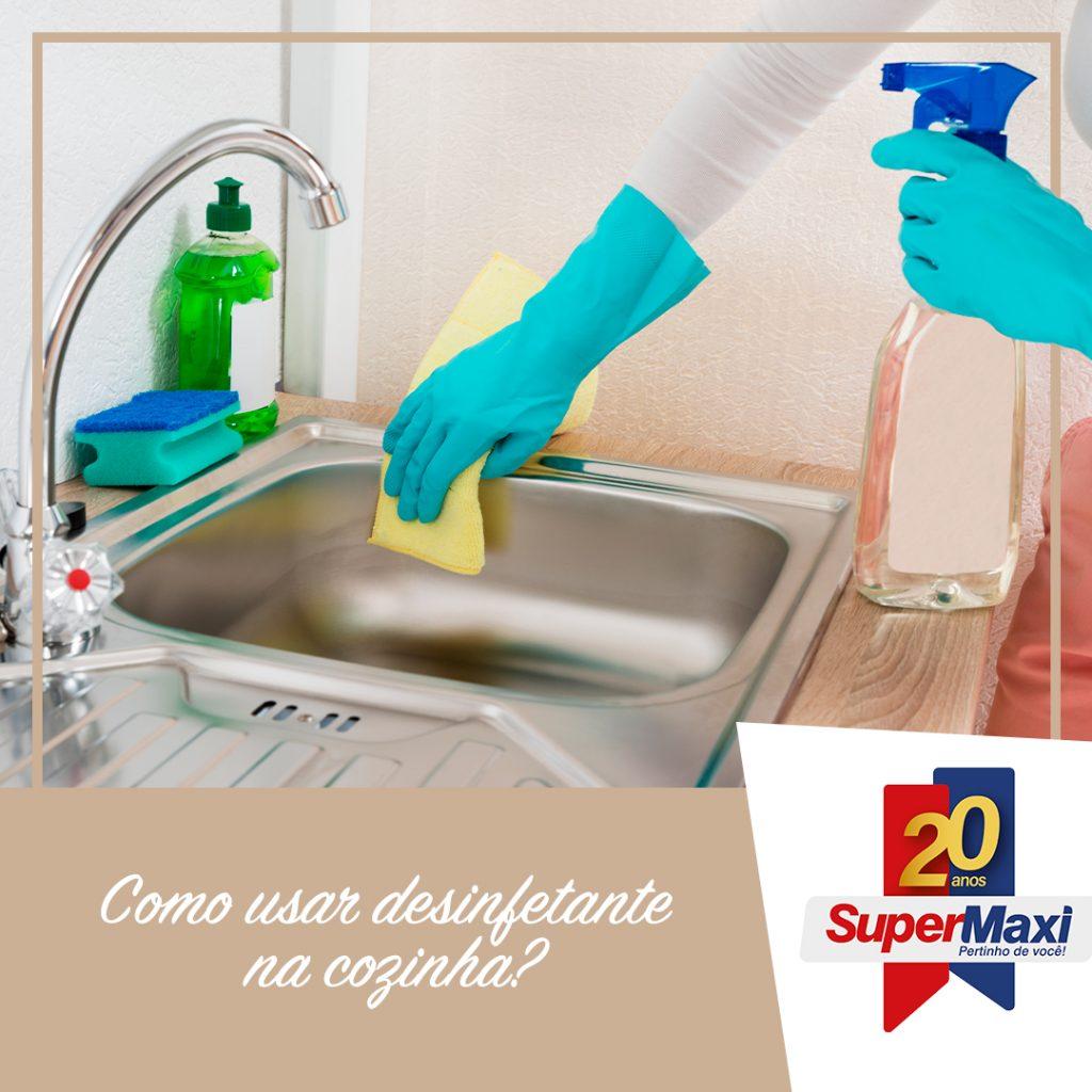 Como usar desinfetante na cozinha