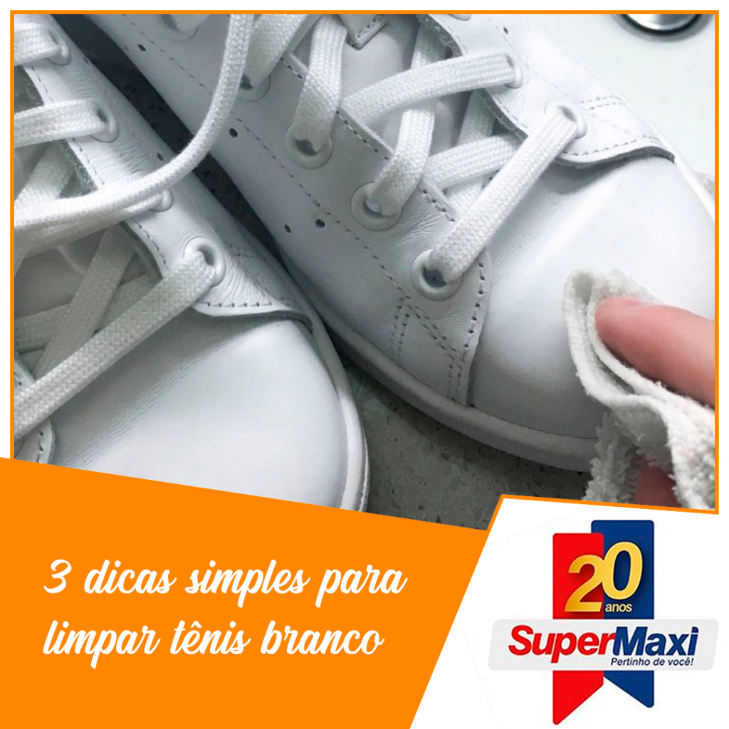 3 dicas simples para limpar tênis Branco