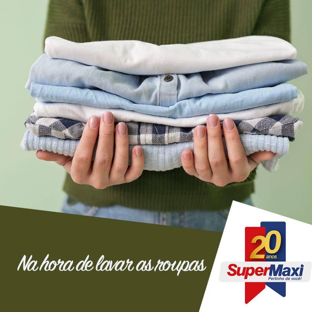 Na hora de lavar as roupas
