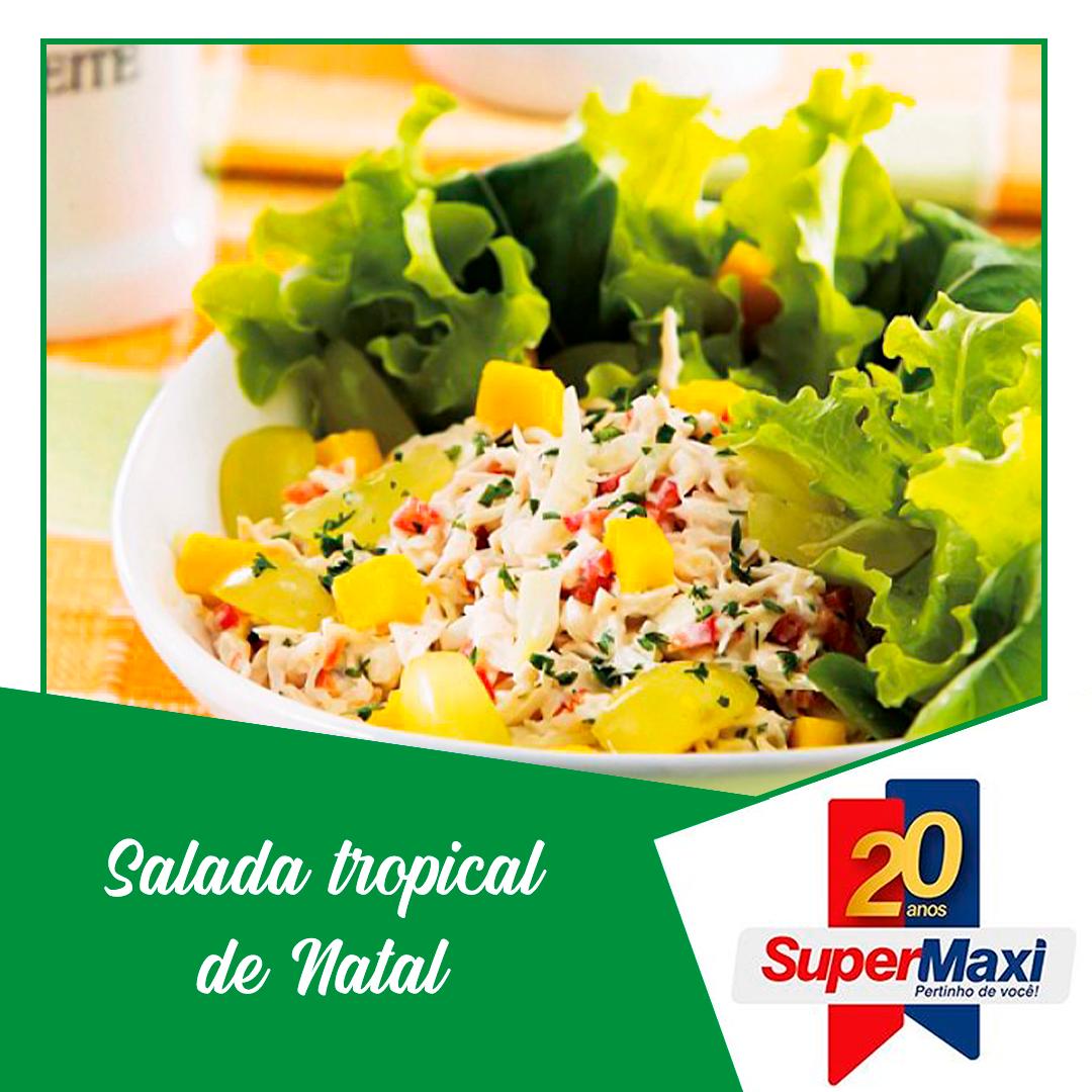 Salada tropical de natal