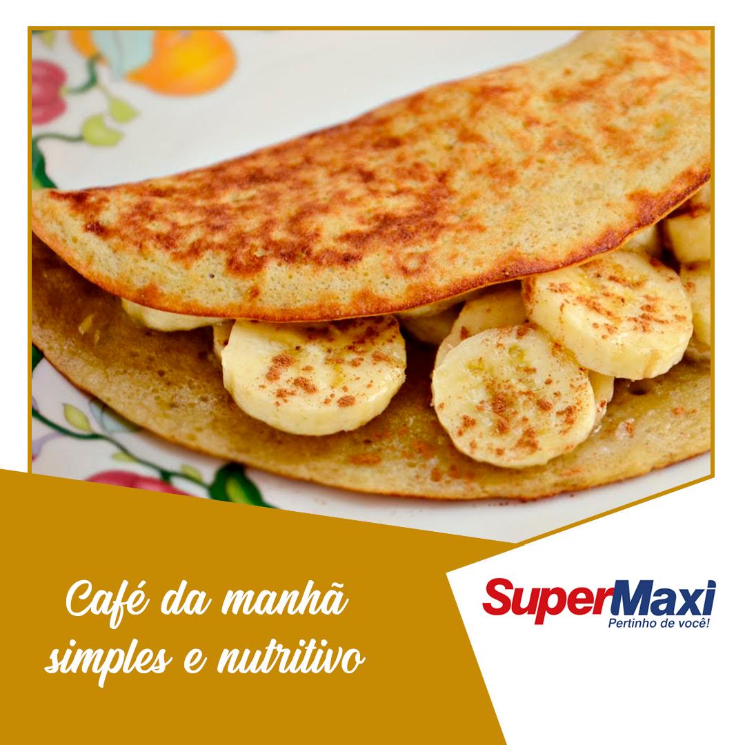 Café da manhã simples e nutritivo