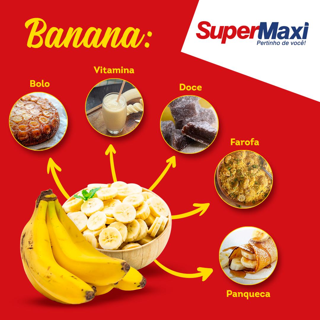 Banana: Bolo, Vitamina, Doce, Farofa, Panqueca