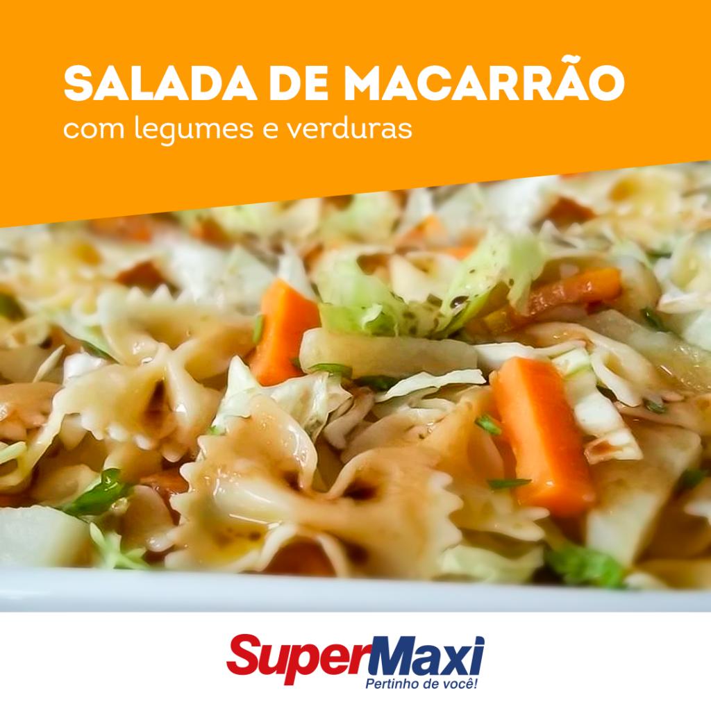 Salada de macarrão com legumes e verduras