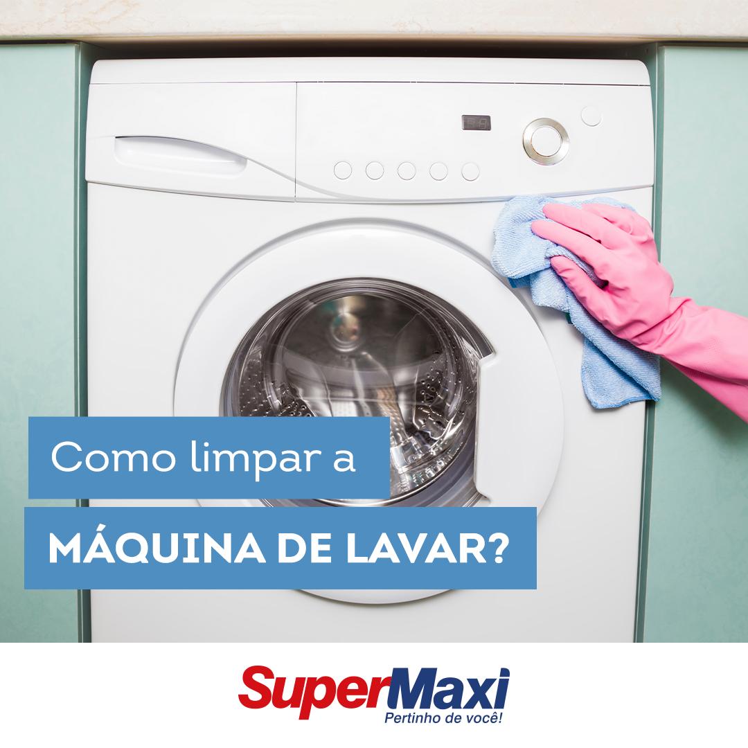 Como limpar a máquina de lavar?