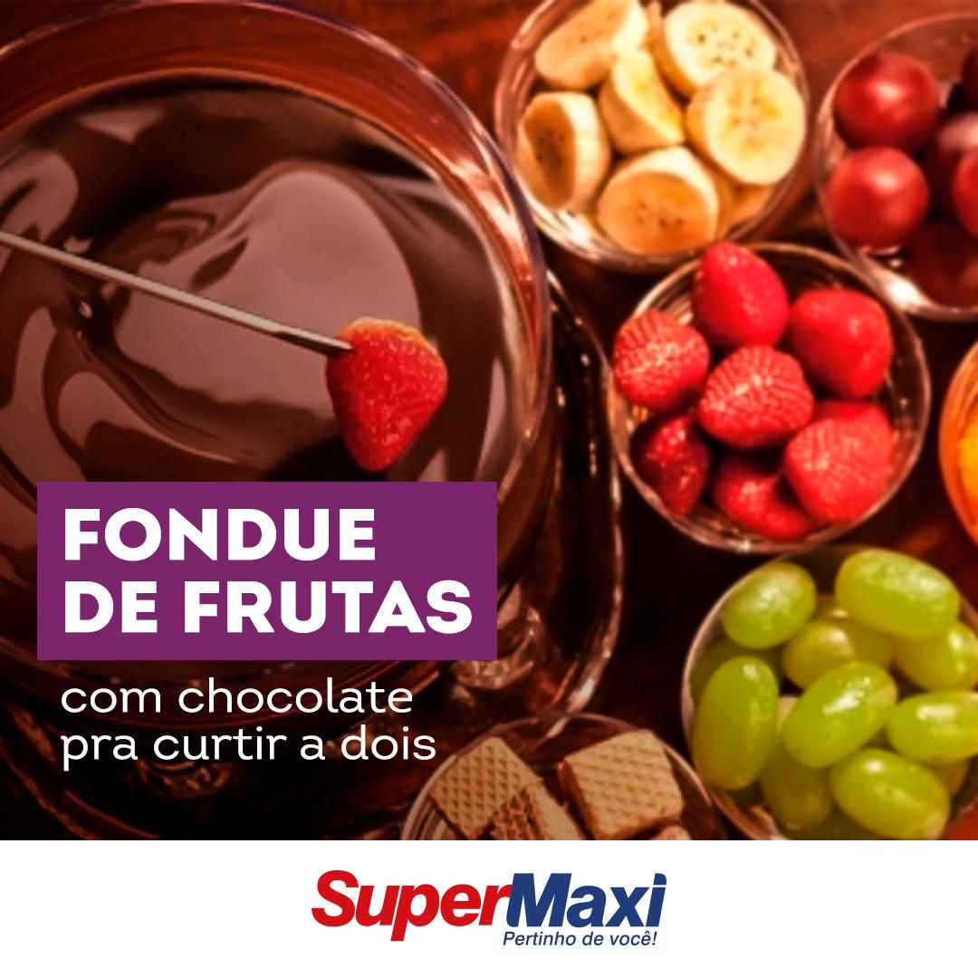 Fondue de frutas com chocolate pra curtir a dois